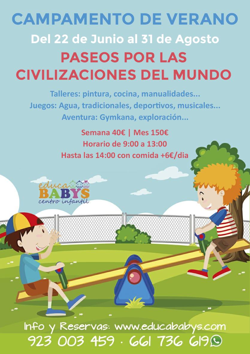 Campamento de Verano 2020 en EducaBabys